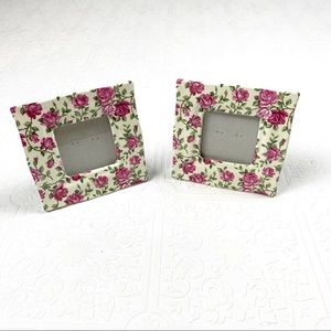 🌞 2 Small Carr Frames Pink Chintz Photo Frames
